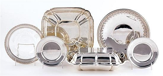 American sterling entree dishes and trays (6pcs)