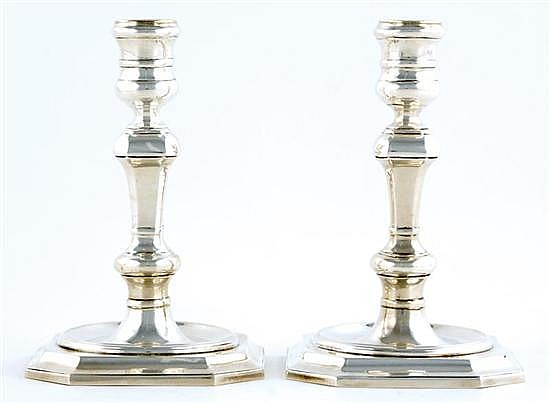 Pair Tiffany & Co sterling candlesticks
