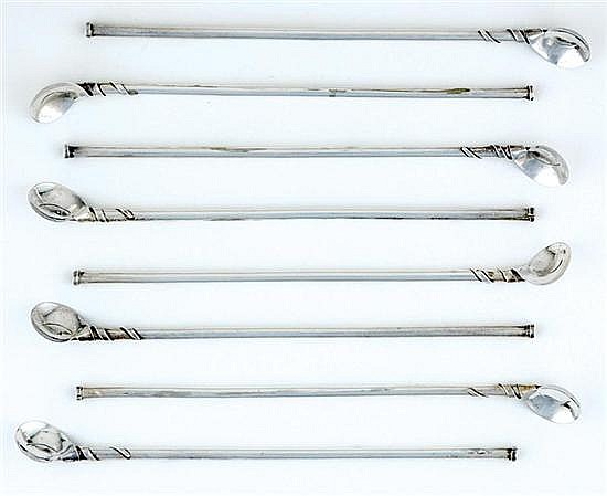 Taxco sterling sipping stirrers (8pcs)