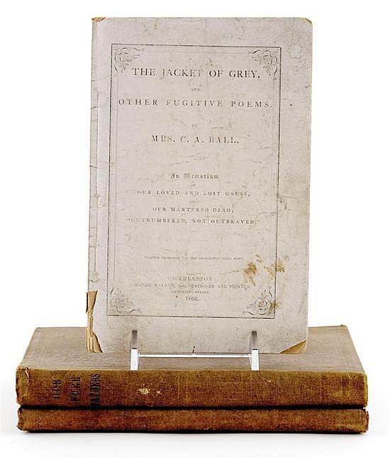 Books: Civil War era volumes descended in the Rutledge Family (3pcs)