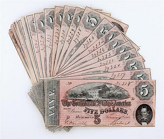 Confederate States of America currency bundle (82pcs)
