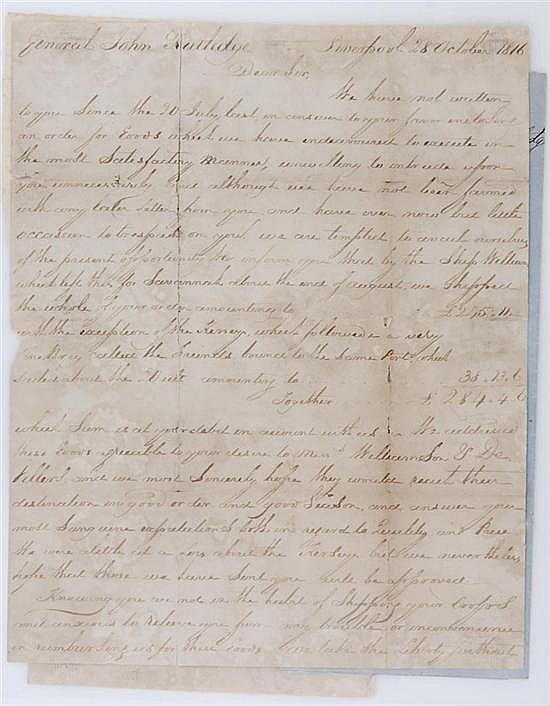 Documents: Rutledge family papers (4pcs)