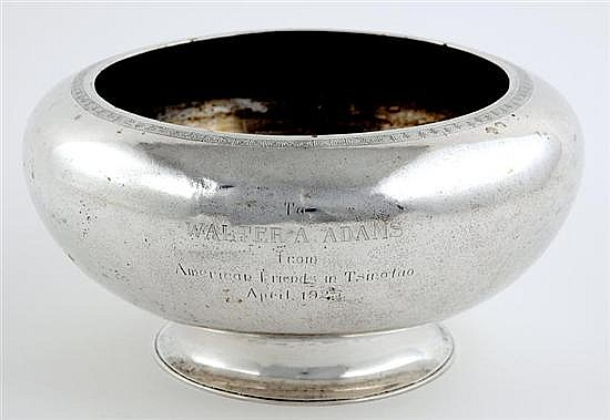 Chinese Export silver centerbowl