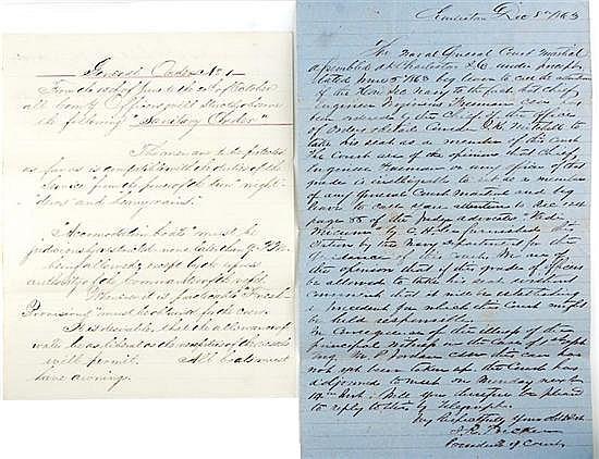Documents: Civil War Naval letters (2pcs)