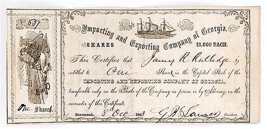 Confederate Stock Certificate