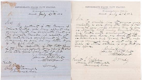 Documents: Lt. John Rutledge Naval orders (8pcs)