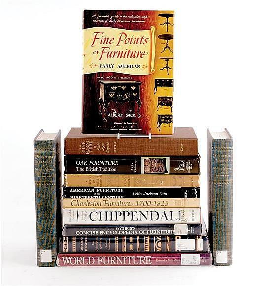 Books: Antique American, European and world furniture (12pcs)