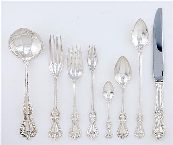 Towle Old Colonial pattern sterling flatware set (67pcs)