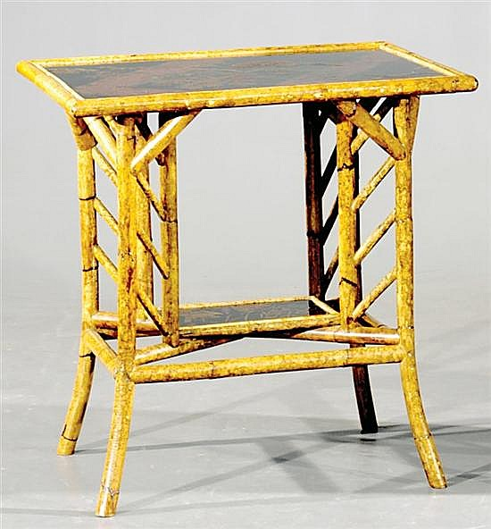 Aesthetic Movement bamboo and lacquer side table