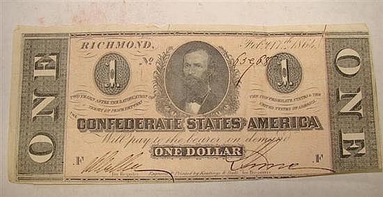 19th century journal, Civil War-era bills and memorabilia (20pcs)
