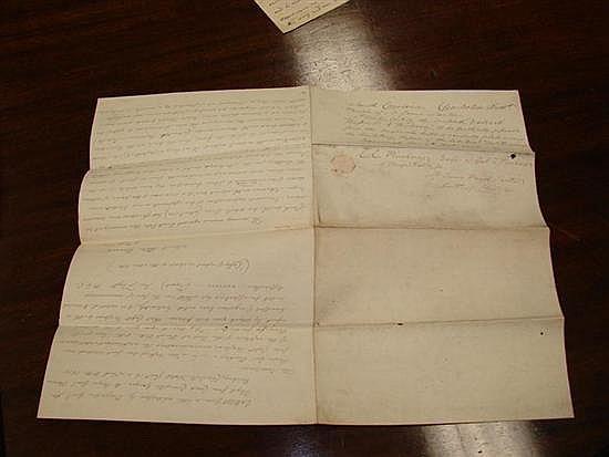 Document: Fisher Ames autographed letter signed (2pcs)