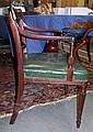 Image 12 for Set Sheraton carved & inlaid mahogany dining chairs (9pcs)