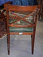 Image 13 for Set Sheraton carved & inlaid mahogany dining chairs (9pcs)