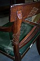 Image 14 for Set Sheraton carved & inlaid mahogany dining chairs (9pcs)