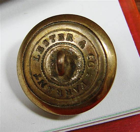 Lt. John Rutledge's collection of Civil War-era uniform buttons (21pcs)