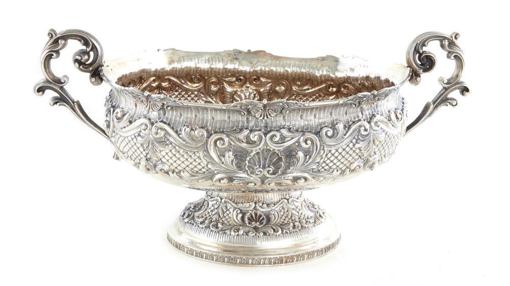 Massive Italian silver centerbowl
