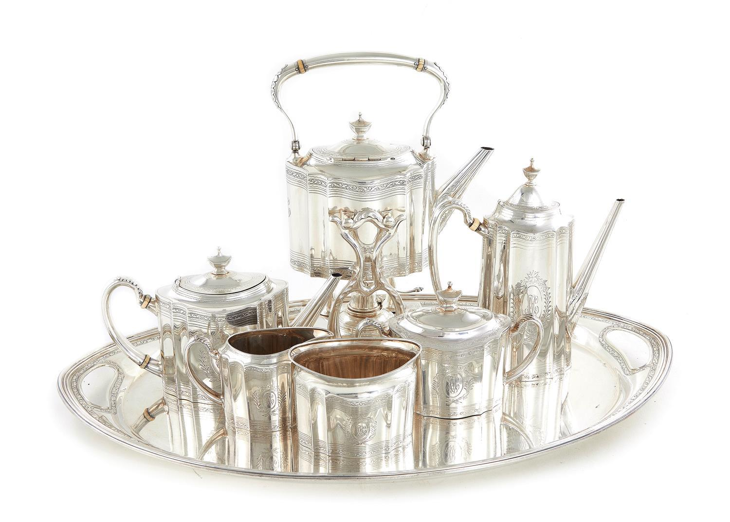 Tiffany & Co silver tea and coffee service (7pcs)