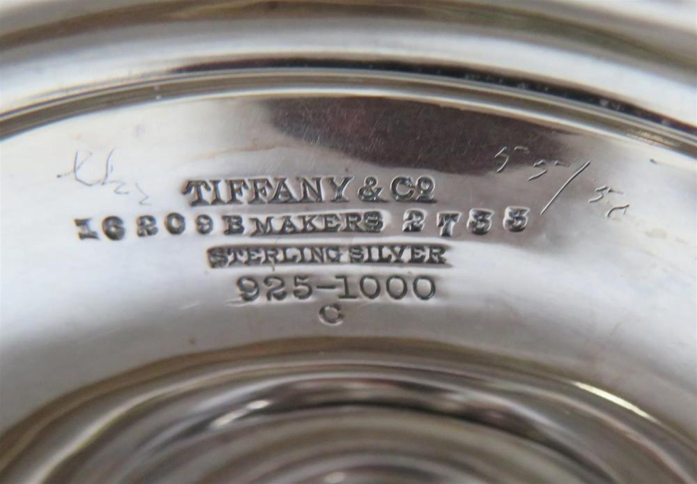 Tiffany & Co silver double-handle vase