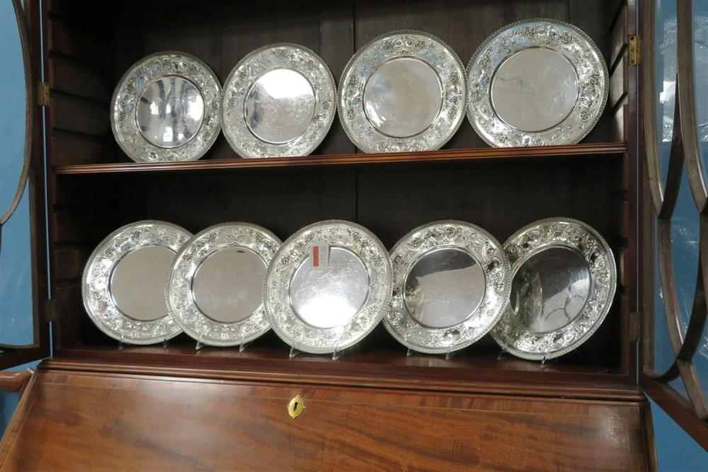 American silver charger set, for Bailey, Banks & Biddle Co (12pcs)