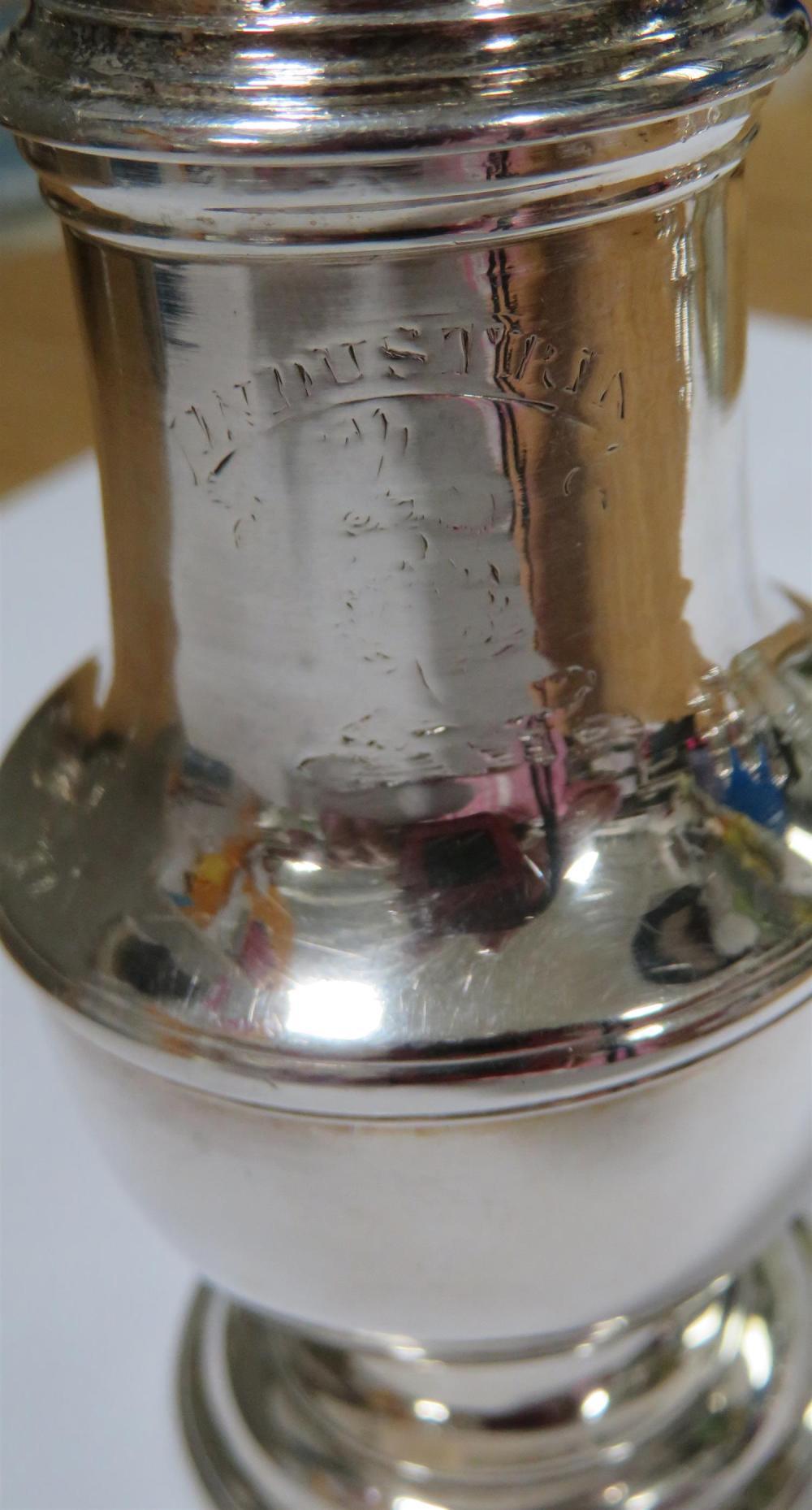 George II silver Warwick cruet, Samuel Wood