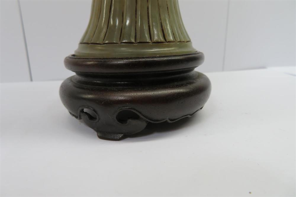 Chinese carved jade goblet