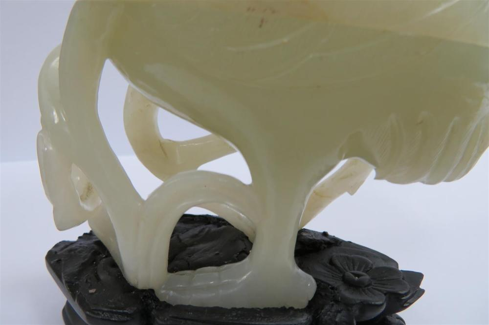 Chinese carved white jade mythical bird