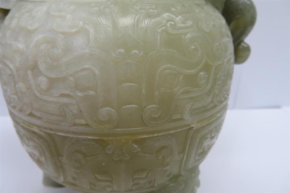 Chinese carved jade teapot