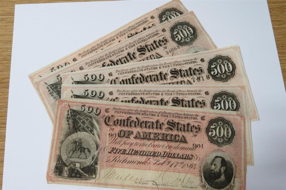 Confederate and early South Carolina currency (31pcs)
