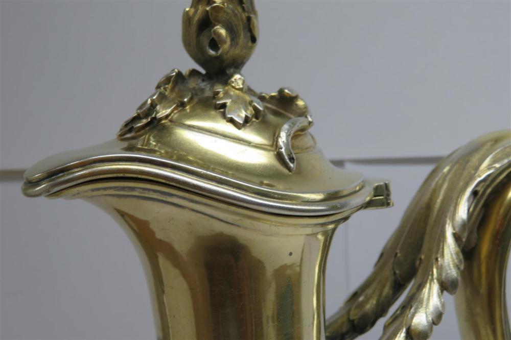 French silver-gilt claret jug, Gustave Keller
