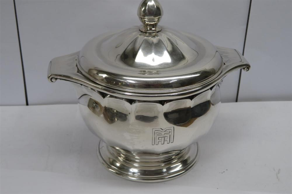 French silver tea and coffee service, Souche-Lapparra (7pcs)