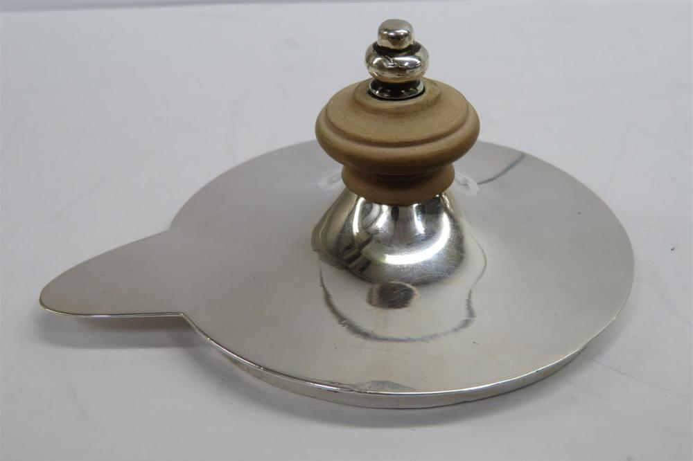 Indian Colonial silver brandy warmer