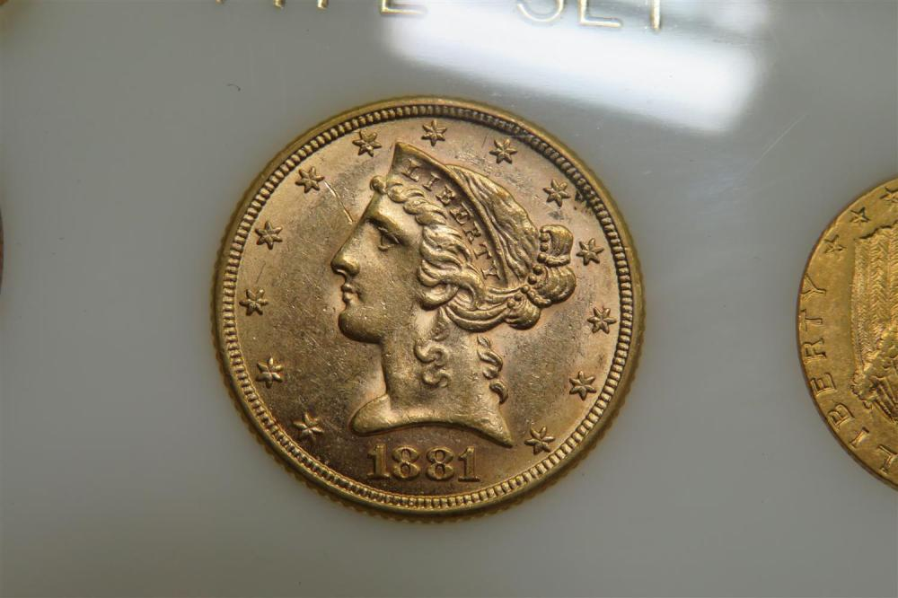 United States gold coin Type Set