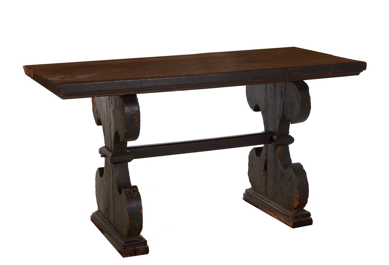Spanish Baroque walnut trestle table
