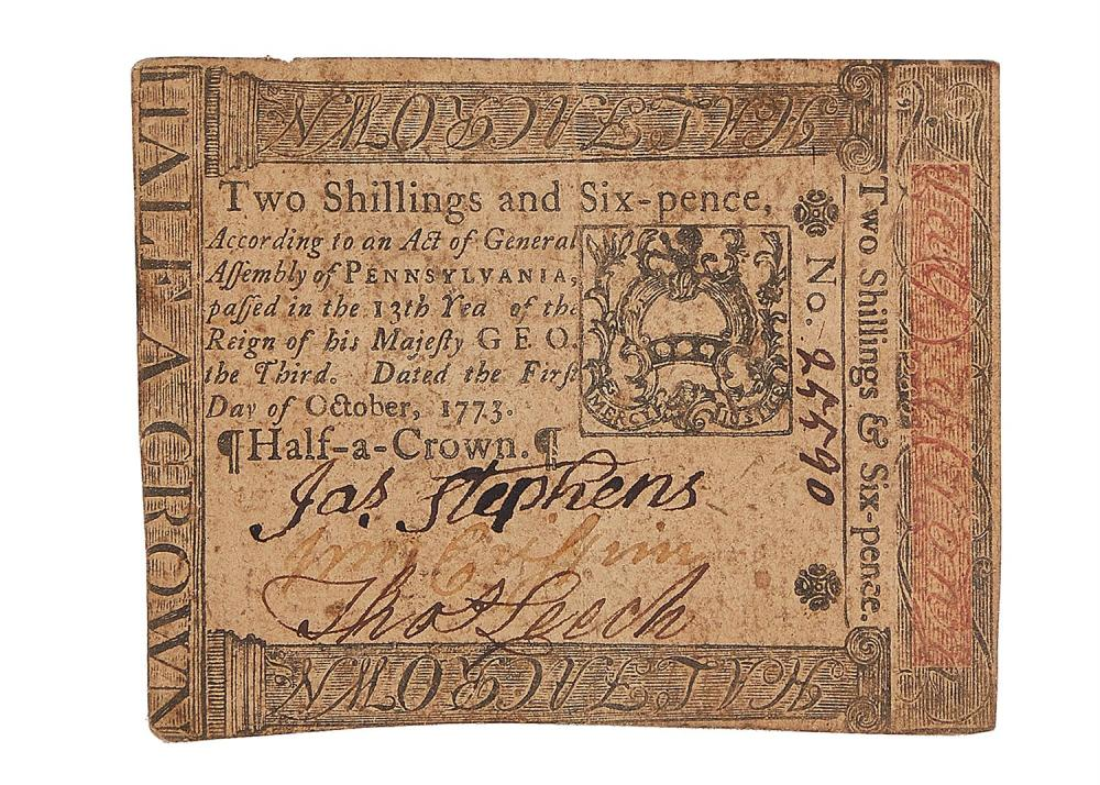 American Colonial period currency