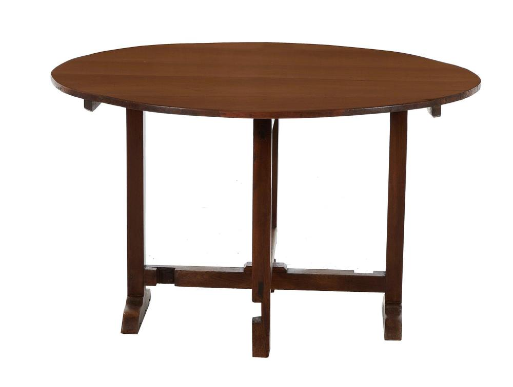 French Provincial walnut wine table