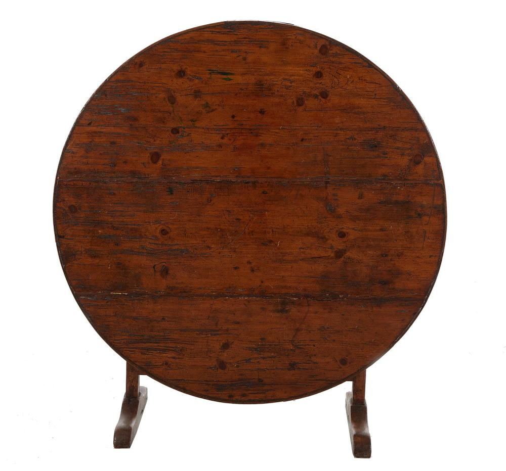 French Provincial pine wine table