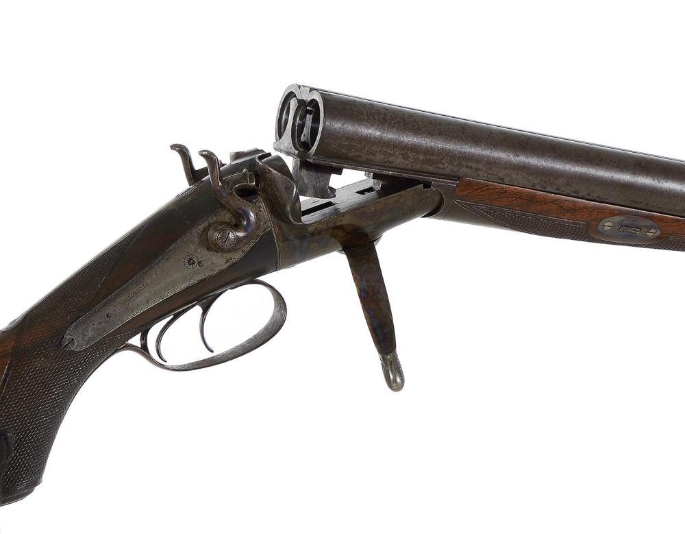J. Breddell & Son 8-bore SxS back-action underlever hammer sporting gun ***Federal Laws Apply***