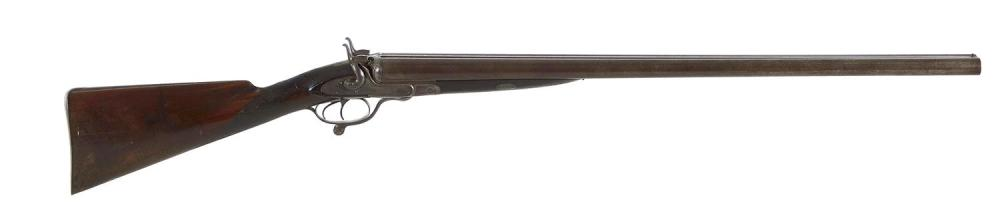 James Beattie 8-bore SxS side-lock under-lever hammer gun