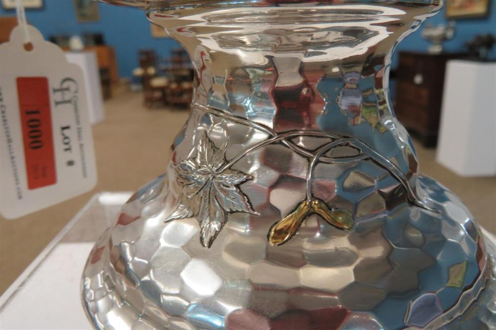 Tiffany & Co silver, mokume, mixed-metal centerpiece