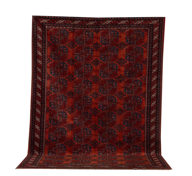 Antique Afghan Bokhara carpet