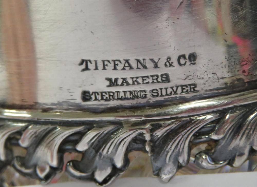 Tiffany & Co silver-mounted crystal pitcher