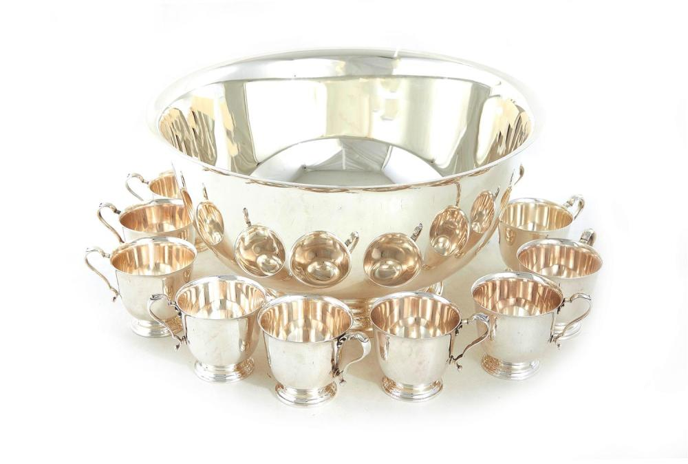 International silver punch set (13pcs)
