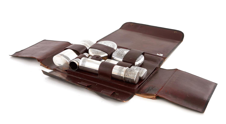 Tiffany & Co silver gentlemen's travel vanity and shaving kit