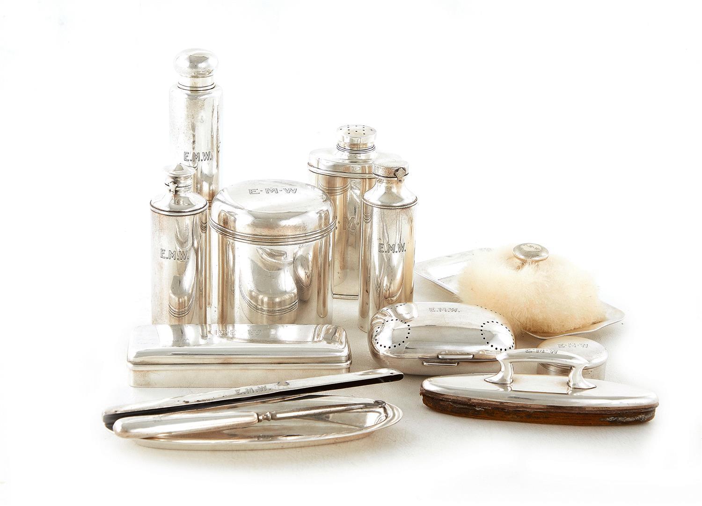 Tiffany & Co silver lady's vanity set (14pcs)