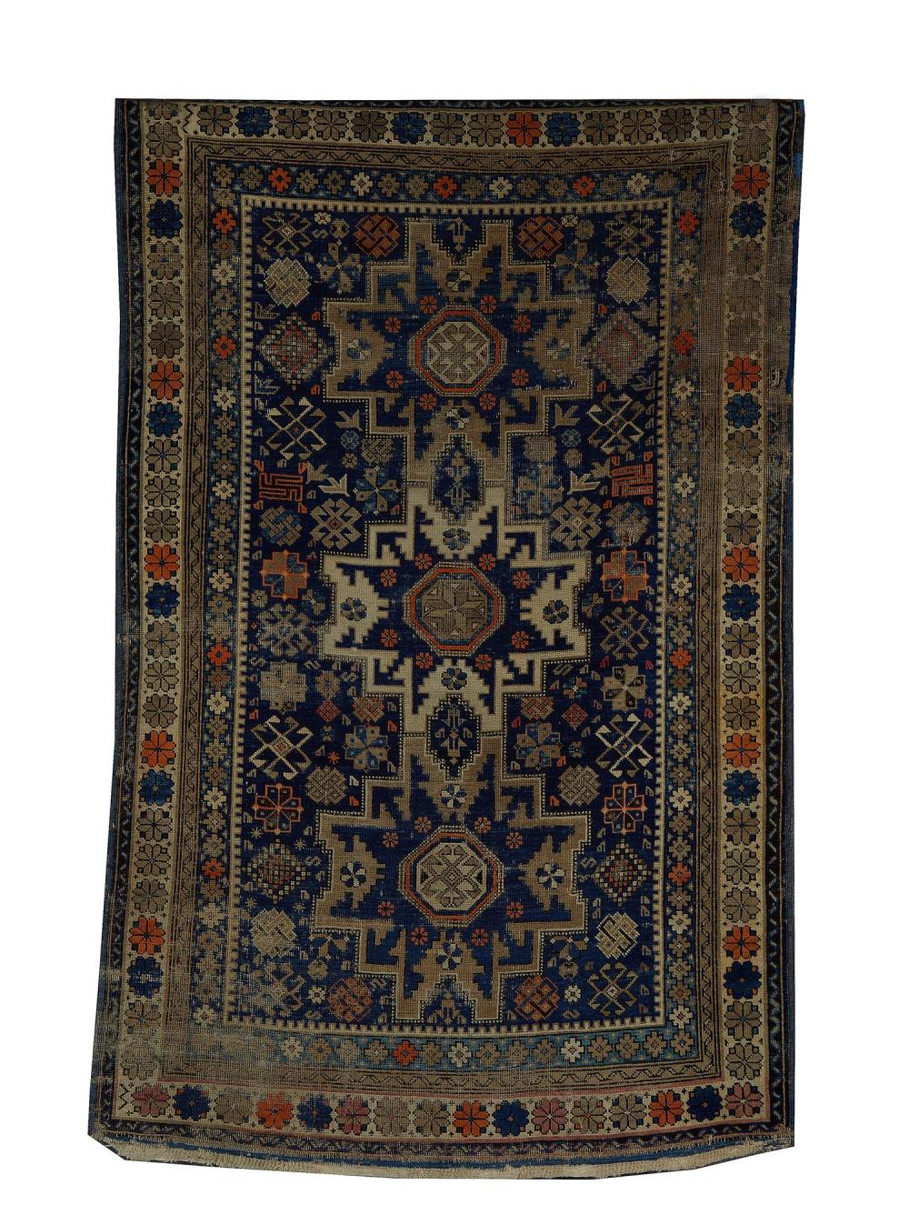 Antique Russian Kazak carpet