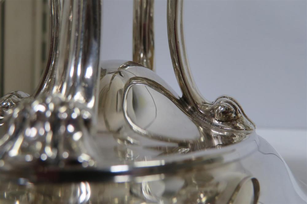 Edwardian silver epergne, Edward Souter Barnsley
