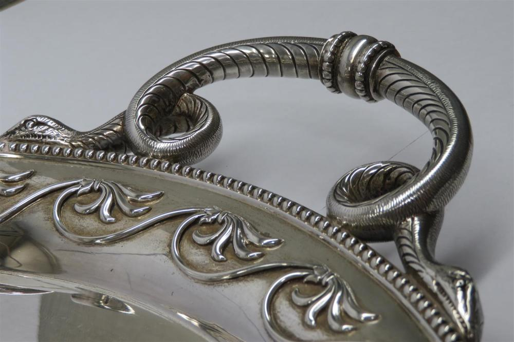 George IV silver serving tray, Holland, Aldwinckle & Slater
