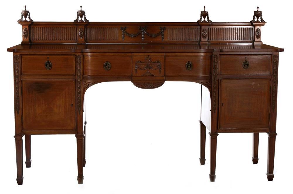 Adam style mahogany sideboard