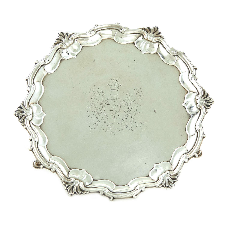 George II silver salver, James Morison