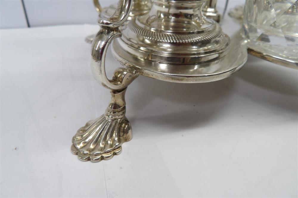 Fine George II silver Warwick cruet, John Delmester